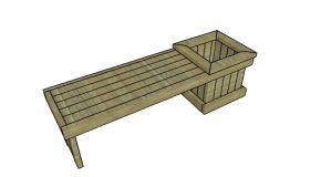 2×4 Planter Bench Plans