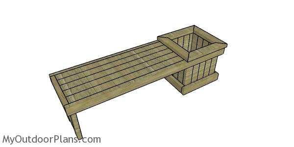 Planter bench from 2x4 lumber plans