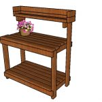 Potting Bench built from 2x4s Plans