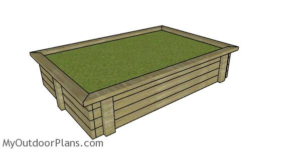 Raised Garden Bed made from 2x4s Plans