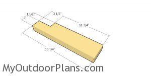 Side slats for tabletop