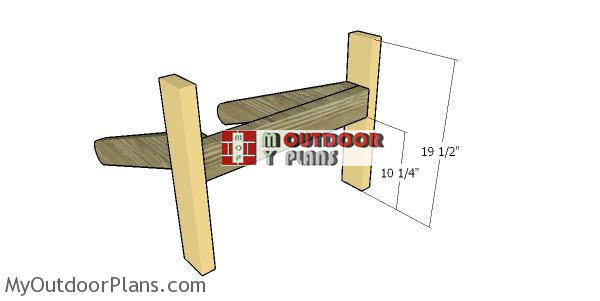 attaching-the-front-legs---adirondack-chair