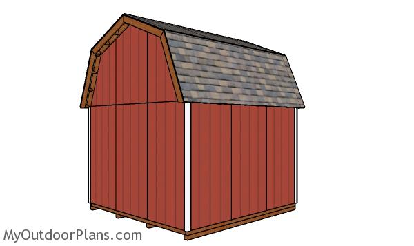 12x12 Gambrel Shed - Back view
