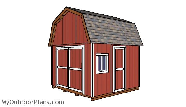 12x12 Gambrel Shed - Free DIY Plans