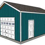 16×24 Detached Garage Plans