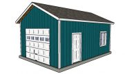 16×24 Detached Garage Plans