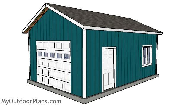16x24 Detached Garage Plans
