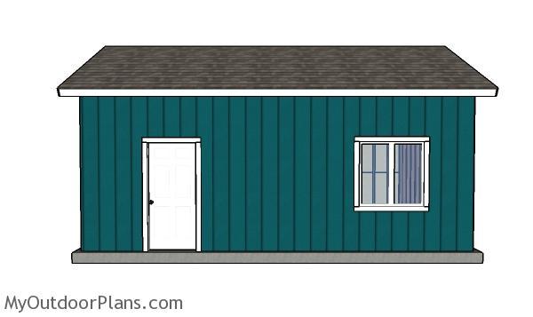16x24 One Car Garage Plans