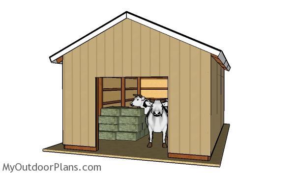 16x24 Pole Barn Plans | MyOutdoorPlans | Free Woodworking ...