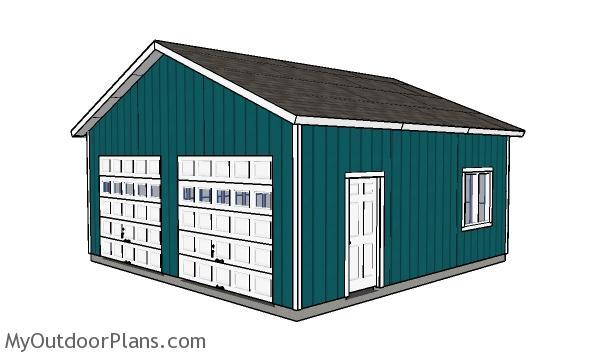 24x24 Double Garage Plans