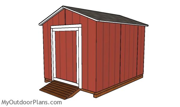 8x10 Cheap Shed Plans
