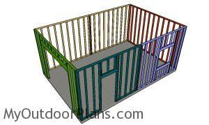 Assembling the 16x24 detached garage frame