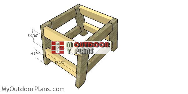 Assembling-the-frame-of-the-2x4-side-table