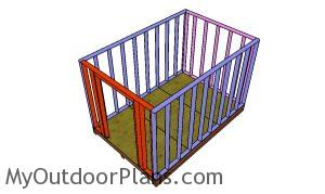 Assembling the shed frame - 8x12 cheap shed plans