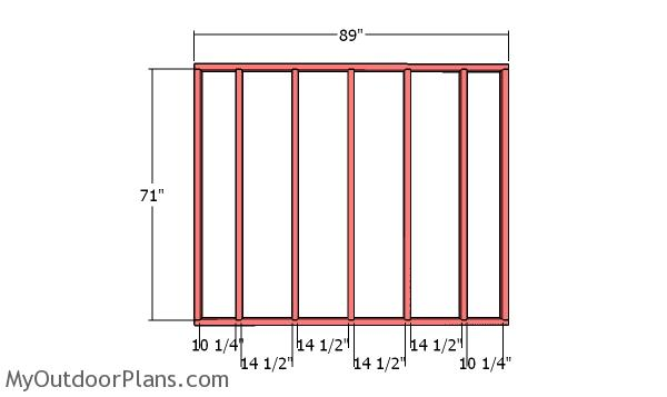 Back wall frame - 8x10 Simple Shed