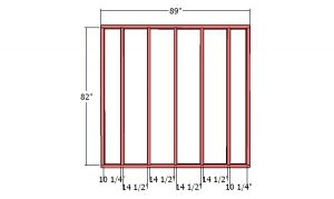 Back wall frame - 8x12 Shed