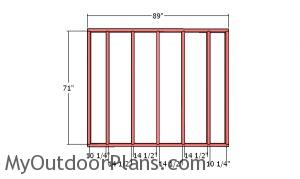 Back wall frame - 8x12 Simple Shed