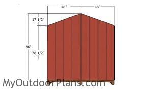Back wall panels - 8x10 Gable shed Plans