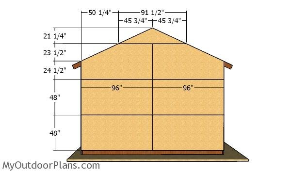 Back wall sheets - 16x24 Pole Barn Plans