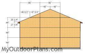 Back wall sheets - 2 car Garage Plans