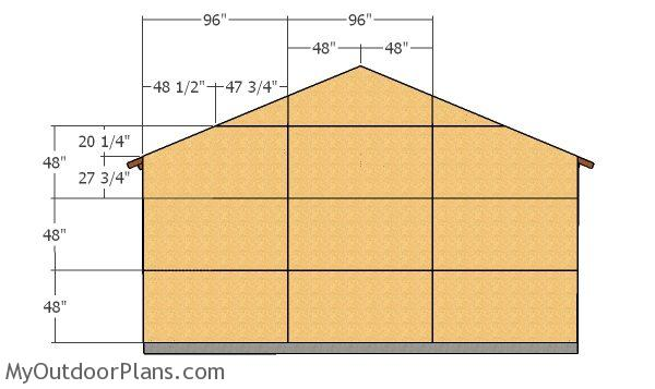 Back wall sheets - 2 car Garage Plans