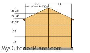 Back wall sheets - One car garage plans