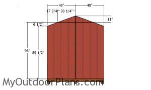 Back wall siding - 8x12 Shed
