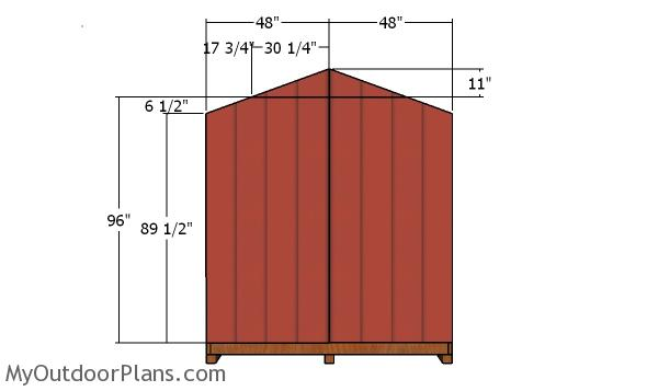 Back wall siding - 8x12 Shed