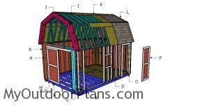 Building a 12x12 gambrel shed