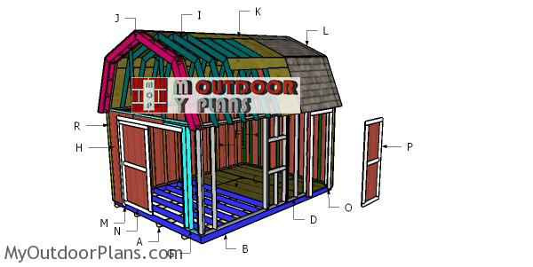 Building-a-12x16-gambrel-shed