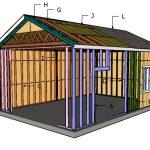 16×24 Garage Gable Roof Plans