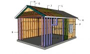 16×24 Garage Gable Roof Plans