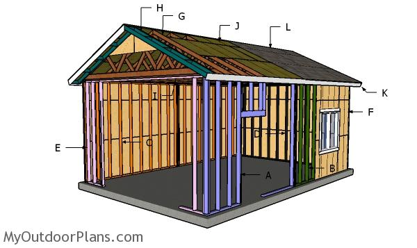 16x24 Garage Gable Roof Plans