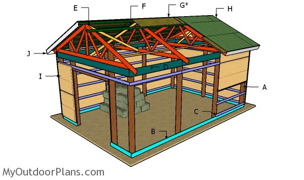 16×24 Pole Barn Roof Plans