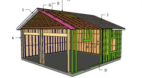 24×24 Detached Garage Roof Plans