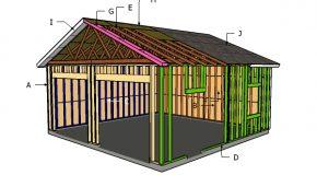 24×24 Detached Garage Roof Plans