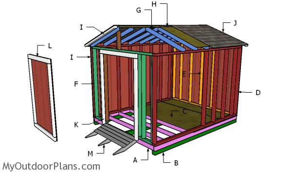 8x10 Cheap Shed Door and Ramp Plans