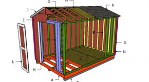 8×12 Cheap Shed Doors and Trims Plans