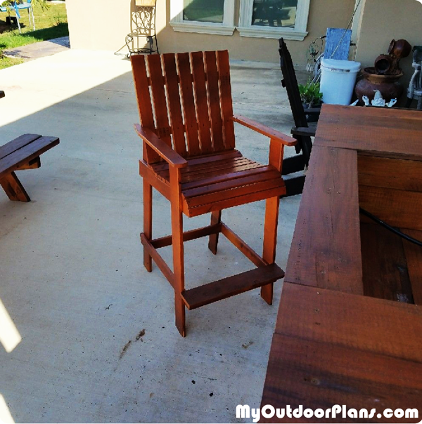 DIY Bar Height Adirondack Chair