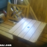 DIY Modern Double Chair with Table