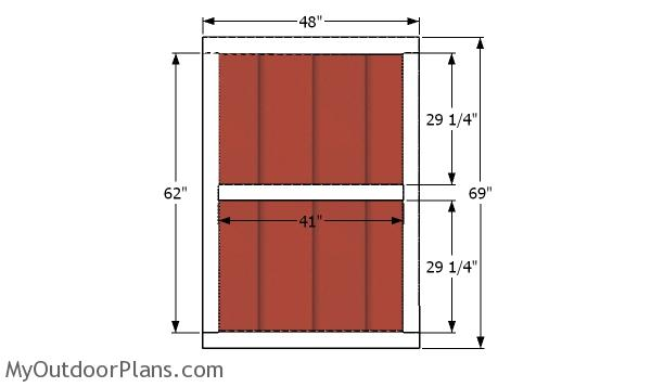Door - 8x10 cheap shed plans