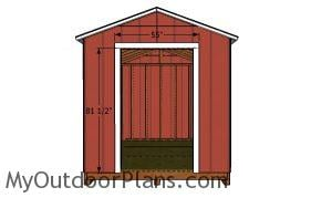 Door jambs - 8x12 Utility Shed Plans
