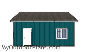 Double Garage Plans - Side View