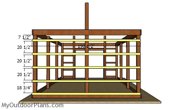 Fitting the back girts - Pole Barn Plans