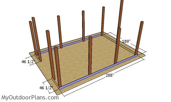 Fitting the base beams