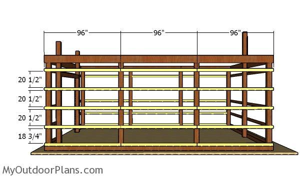 16x24 Pole Barn Plans   MyOutdoorPlans   Free Woodworking ...