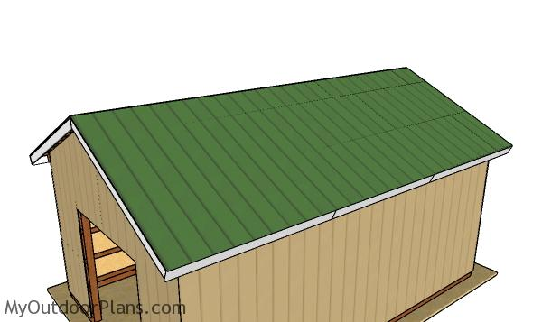 Fitting the metal roofing sheets