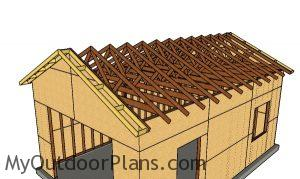 Fitting the overhangs - 16x24 Garage Plans