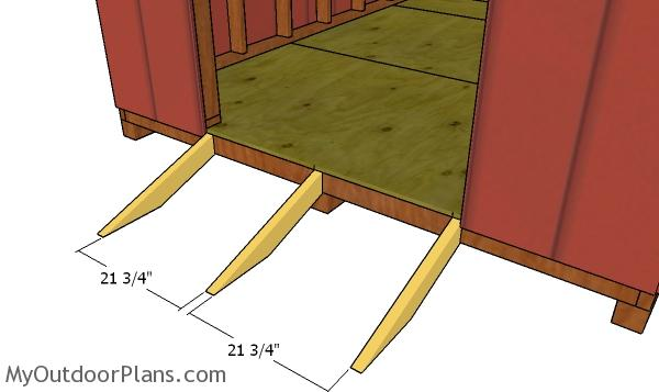Fitting the ramp joists