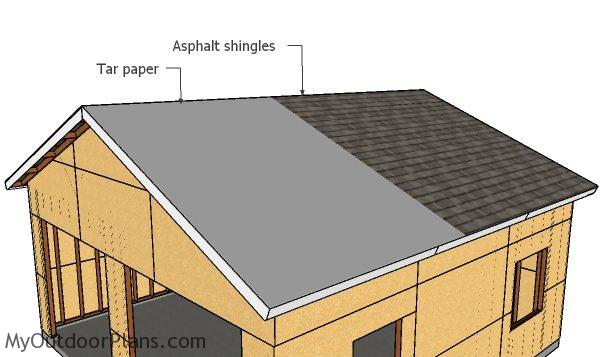 Fitting the roofing - Double Garage Plans